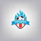 Le football Logo Design Template, identité d'équipe d'insigne du football Photo libre de droits