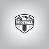 Le football Logo Design Template, identité d'équipe d'insigne du football Photographie stock libre de droits