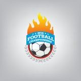 Le football Logo Design Template, identité d'équipe d'insigne du football illustration de vecteur