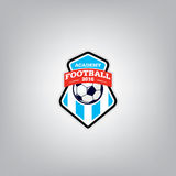 Le football Logo Design Template, identité d'équipe d'insigne du football Photos libres de droits