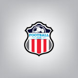 Le football Logo Design Template, identité d'équipe d'insigne du football Photo stock
