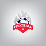 Le football Logo Design Template, identité d'équipe d'insigne du football Images stock