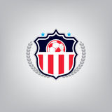 Le football Logo Design Template, identité d'équipe d'insigne du football Photos stock