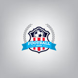 Le football Logo Design Template, identité d'équipe d'insigne du football, graphique de T-shirt du football du football Photo stock