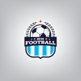 Le football Logo Design Template, identité d'équipe d'insigne du football, graphique de T-shirt du football du football Image stock