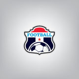 Le football Logo Design Template, identité d'équipe d'insigne du football, graphique de T-shirt du football du football Photo libre de droits