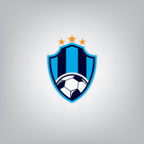 Le football Logo Design Template, identité d'équipe d'insigne du football, graphique de T-shirt du football du football Photographie stock