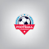 Le football Logo Design Template, identité d'équipe d'insigne du football, graphique de T-shirt du football du football Photos libres de droits