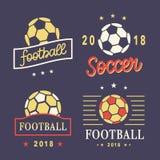 Le football Logo Template Set de vecteur Photo stock