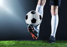 Le football Match de Fotball Concept de championnat avec du ballon de football Image stock