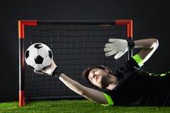 Le football Match de Fotball Concept de championnat avec du ballon de football Image libre de droits