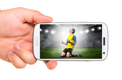 Le football mobile Photo libre de droits