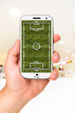 Le football mobile Image stock