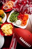 Le football : Nourriture de partie du football Images libres de droits