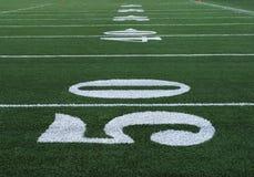 Le football numéro cinquante Image libre de droits