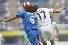 le football olympique Etats-Unis de Pékin Japon v Photos stock