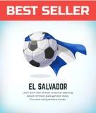 Le football ou ballon de football du Salvador ?quipe nationale du football Illustration de vecteur illustration stock