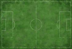 Le football ou terrain de football Photographie stock libre de droits