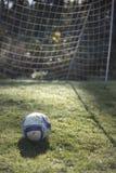 Le football pendant le matin images stock