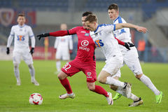 Le football : Piast Gliwice - Lech Poznan photo libre de droits