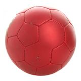 Le football rouge Photographie stock