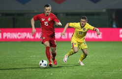 Le FOOTBALL - ROUMANIE contre lithuania Photos stock