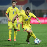 Le FOOTBALL - ROUMANIE contre lithuania Photo stock