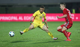 Le FOOTBALL - ROUMANIE contre lithuania Images stock