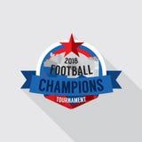 Le football 2018 soutient le vecteur d'insigne Images stock