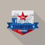 Le football 2018 soutient le vecteur d'insigne Image libre de droits