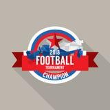Le football 2018 soutient le vecteur d'insigne Images libres de droits
