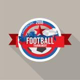 Le football 2018 soutient le vecteur d'insigne Photographie stock libre de droits