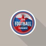 Le football 2018 soutient le vecteur d'insigne Photo stock
