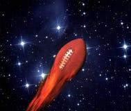 Le football sur l'incendie photo stock