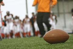 Le football sur la zone Images libres de droits