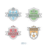 Le football, vecteur Logo Set du football Photos libres de droits