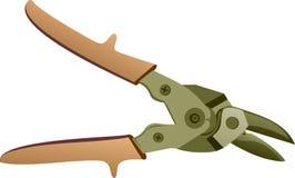 Le forbici per sono metallo marcato Immagine Stock
