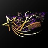 Le forbici si pettinano ed astrazione delle stelle la bella royalty illustrazione gratis