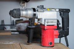 Le foret de puissance bien utilisé électrique, se ferment  photographie stock
