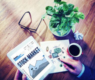 Le forex de finances d'économie de marché boursier partage le concept Photographie stock libre de droits