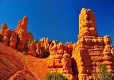 Le formazioni rocciose in canyon rosso parcheggiano nell'Utah. Immagine Stock Libera da Diritti
