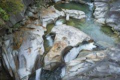 Le formazioni rocciose hanno chiamato il ` di Giganti di dei di Le Marmitte del ` immagini stock libere da diritti