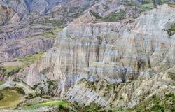 Le formazioni rocciose si avvicinano al La Paz in Bolivia Immagini Stock Libere da Diritti