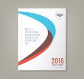 Le forme curve minime astratte progettano il fondo per il rapporto annuale di affari royalty illustrazione gratis