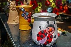 Le forme dell'argilla hanno dipinto 6 Fotografia Stock Libera da Diritti