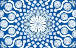 le forme differenti hanno colorato blu e bianco come un fondo o carta da parati Immagini Stock Libere da Diritti
