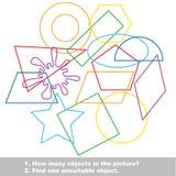Le forme geometriche hanno messo il guazzabuglio Immagini Stock