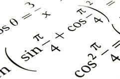 Le formule di algebra si chiudono in su. Fotografia Stock Libera da Diritti