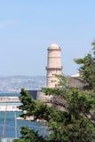 Le fort圣徒斜纹布,马赛,法国 免版税图库摄影