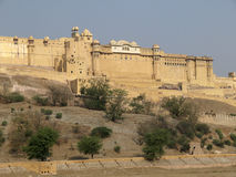 Le fort ambre célèbre de Jaipur, Inde Photo stock